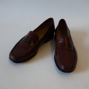 SANTORINI BROWN PENNY LOAFER SZ 7.5 *